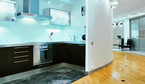 современный дизайн кухонного места