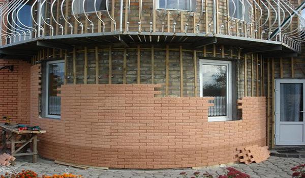 облицовка здания сложной формы