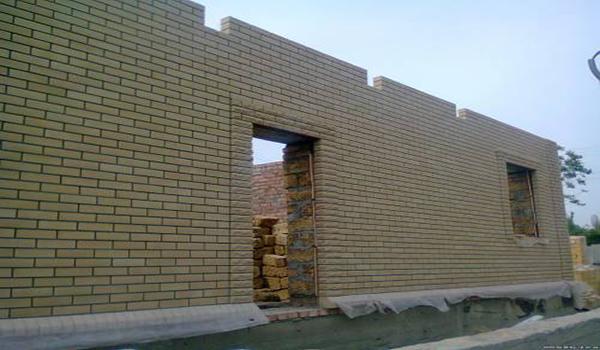 облицовка несущей стены из ракушняка