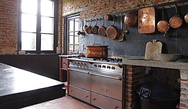 облицовка кухни под кирпич
