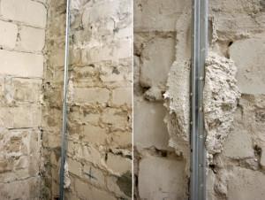 Установка маяков при штукатурке стен фото