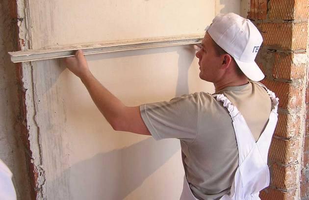 измерение неровности стен