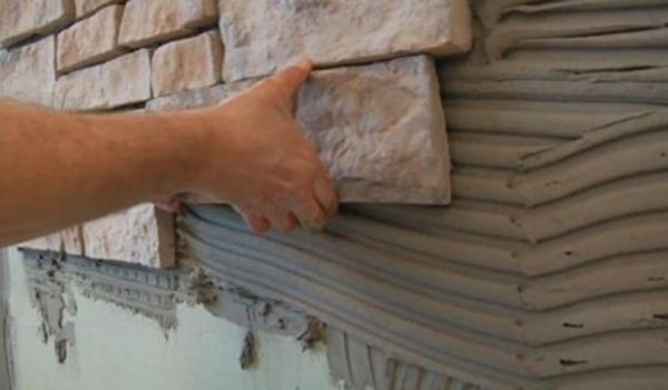 кладка камня на цементный раствор