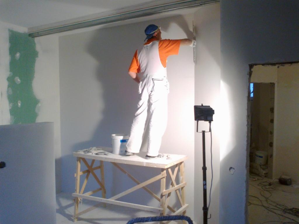 Шпатлевка стены своими руками фото