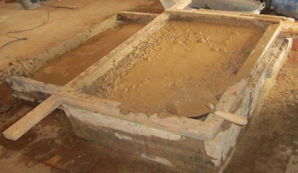 Замачивание глины