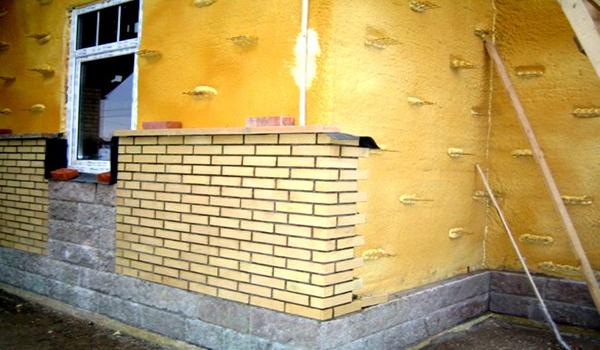 облицовка кирпичом утепленных стен из газобетона