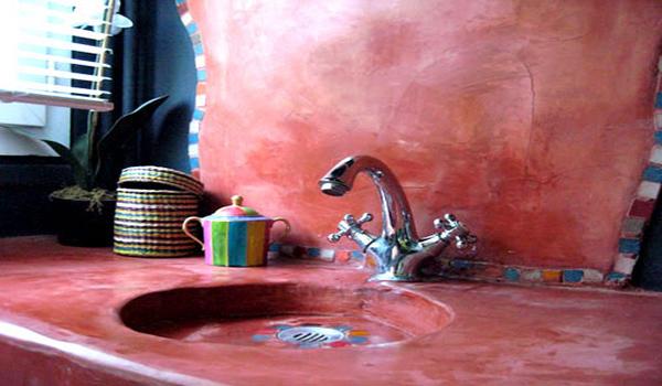 использование марокканской штукатурки в ванной комнате