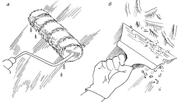 инструменты для снятия побелки мокрым и сухим способом