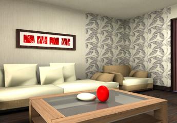 Нестандартная отделка – оклейка стен разными обоями