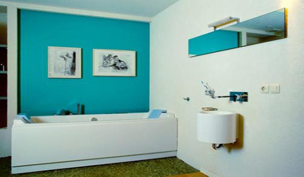 голубая краска для ванной отличное решение