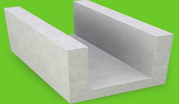 U-образный вид газобетонного блока