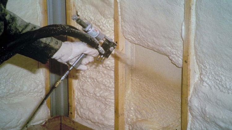 утепление стен пенополиуретоном