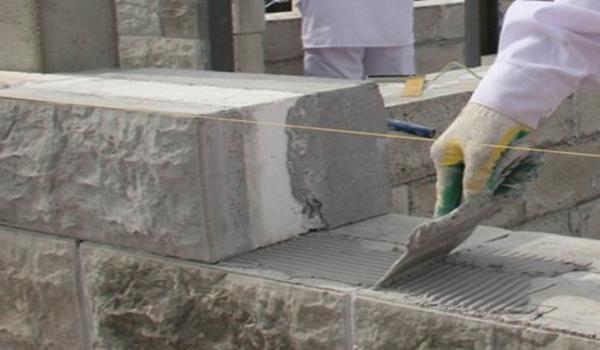 кладка стены из керамзитобетона