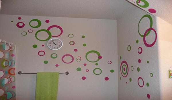 рисунки краской на стенах в ванной