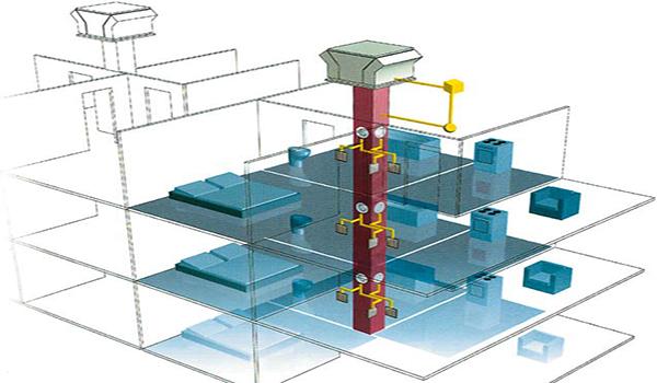 схема магистральной вентиляционной системы