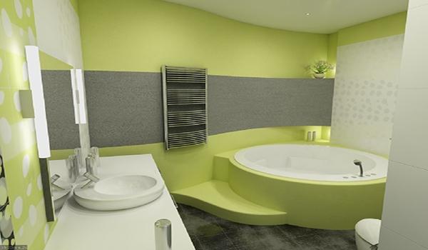 ванная цвета лайм