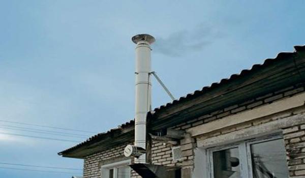 дымоход выведенный через кирпичную кладку