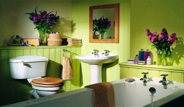 ванна в цветах