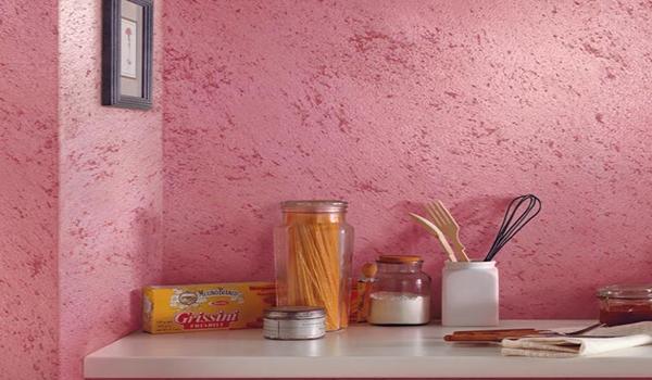 штукатурка короед на кухне