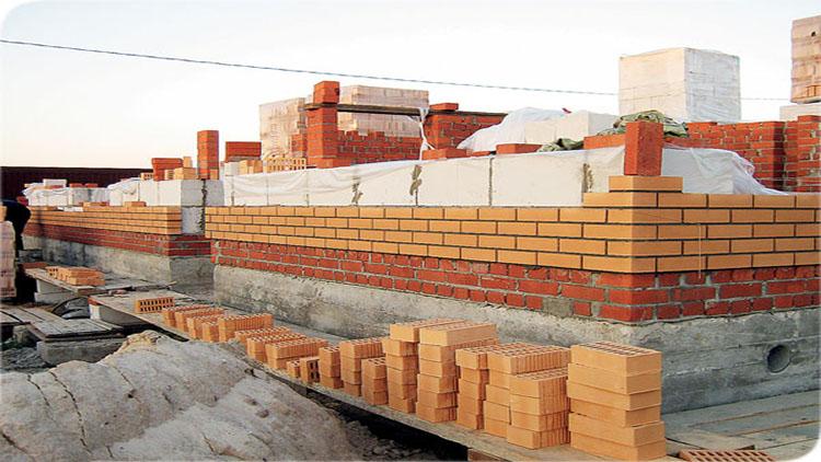 строительство несущих стен из кирпича