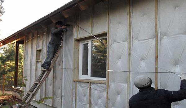 Утепление стекловатой каркасного дома