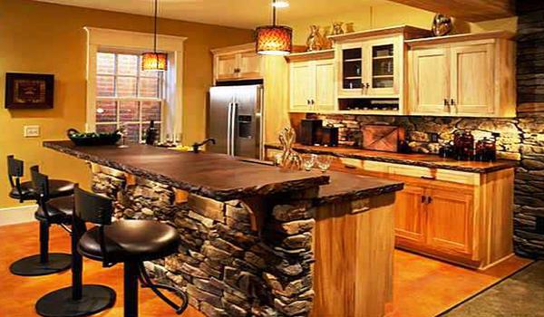 Укладка декоративной плитки на кухне