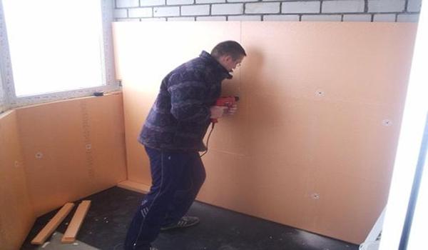 внутренняя обшивка стен пенопластом