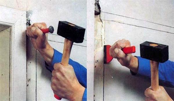 способ штробления с использование зубила и молотка