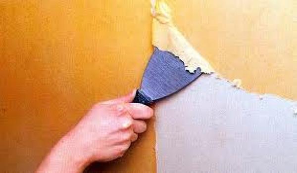 удаление масляной краски шпателем