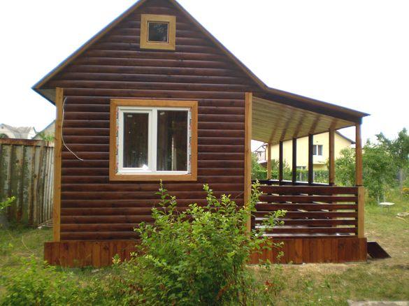 дачный домик из деревянного бруса