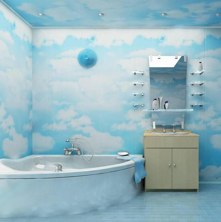 пвх панели в ванной комнате