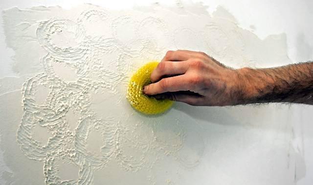Декоративная штукатурка, сделанная из шпаклевки