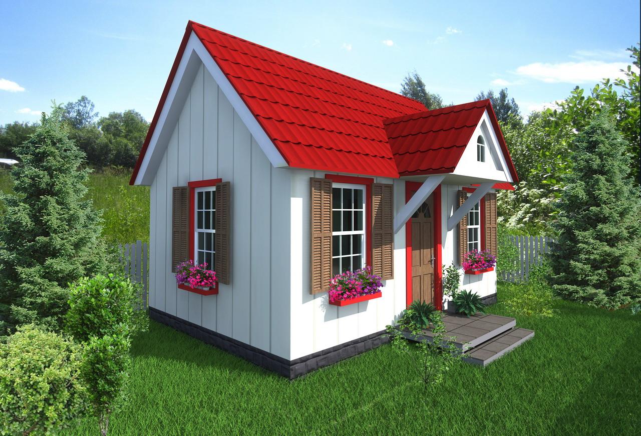 дачный домик, облицованный сайдингом