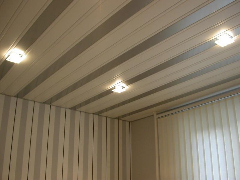 МДФ панели на стене и на потолке