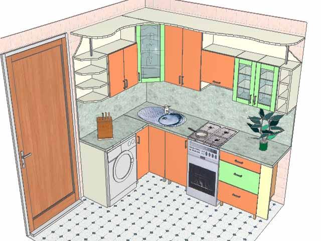 проект кухни в хрущевке