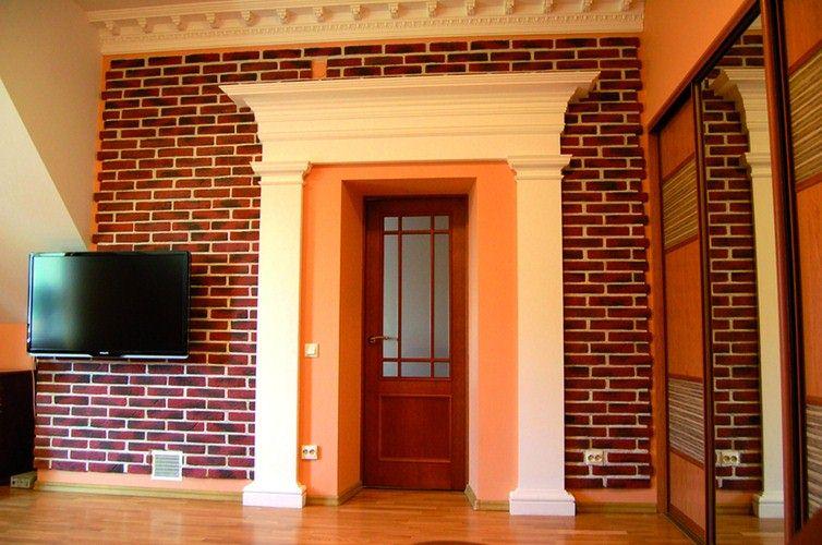 Стена, облицованная клинкерной плиткой