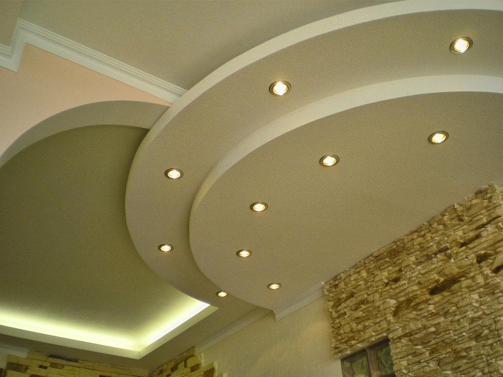 Потолок из гипсокартона фото
