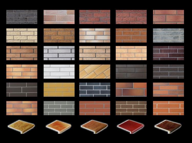 разнообразие клинкерной плитки