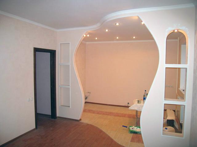 Межкомнатная арка нестандартной формы