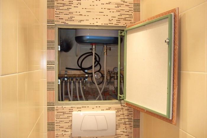 Скрытые коммуникации туалета фото