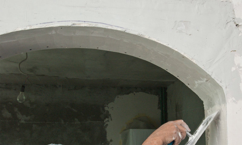 Шпаклевка арки из гипсокартона
