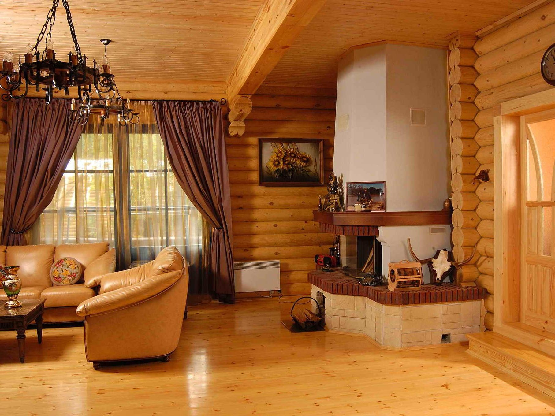 блокхаус внутри дома