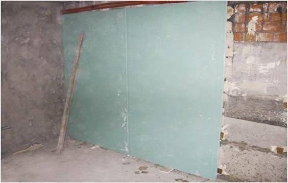 Выравнивание кривой стены гипсокартоном