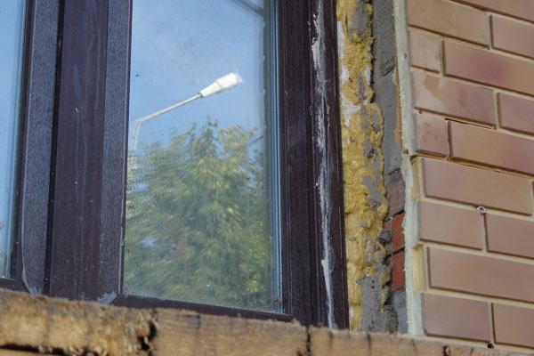 Окно без наружного откоса