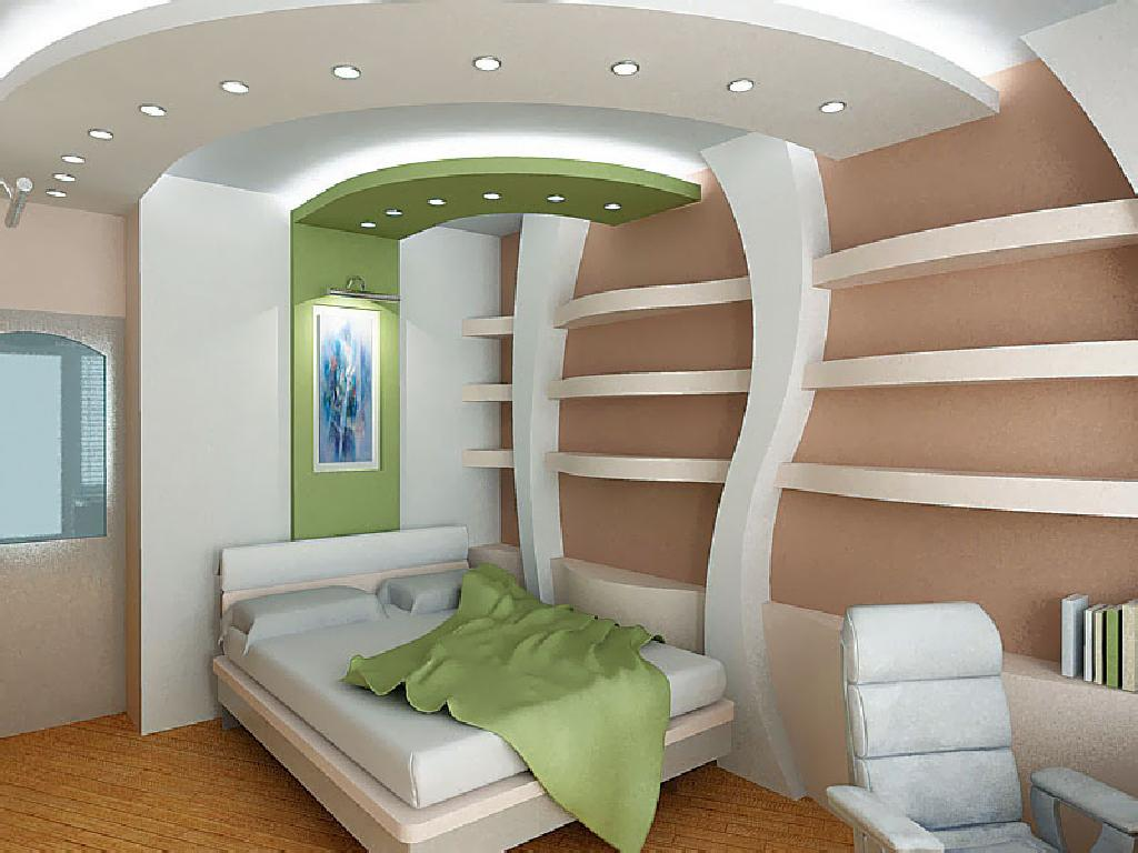 Интересный дизайн спальни фото