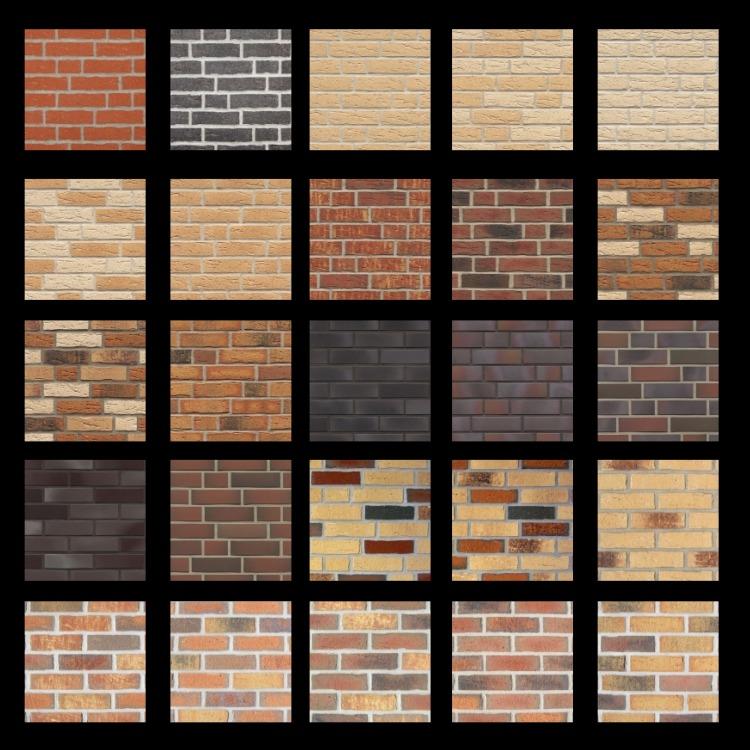 Разнообразие плитки под кирпич