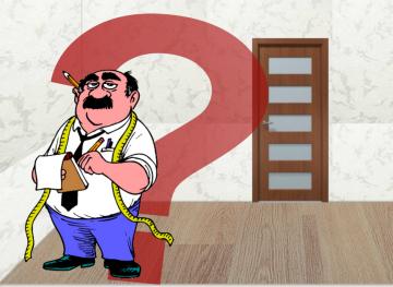 Мужчина с метром и дверь