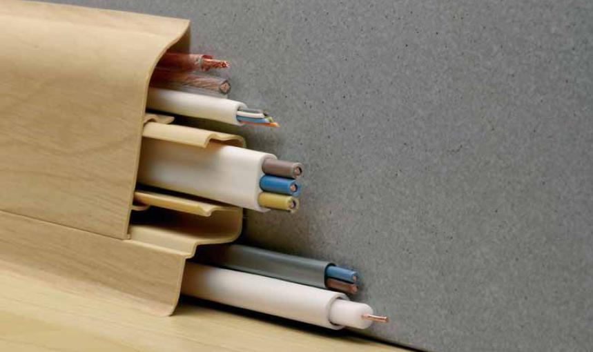 Напольный плинтус с кабель-каналом