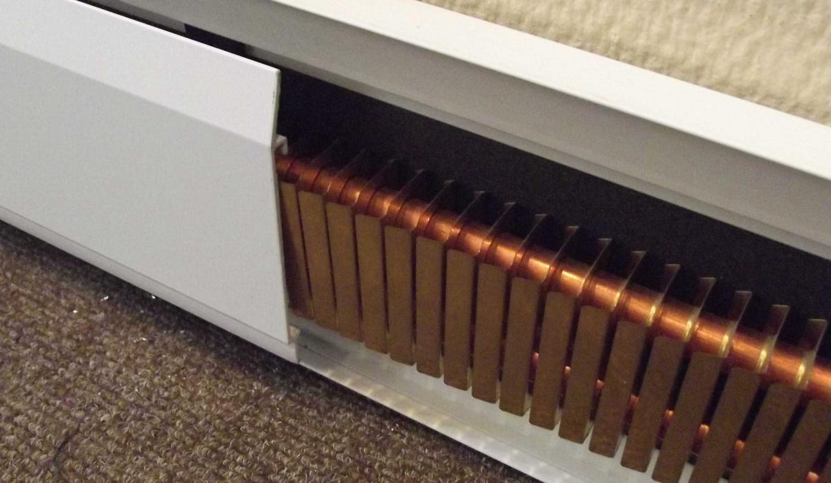 Электрический теплый плинтус фото