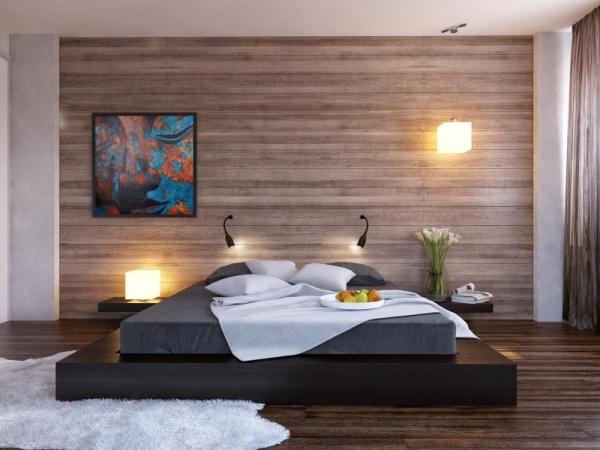 Отделка стен в спальне